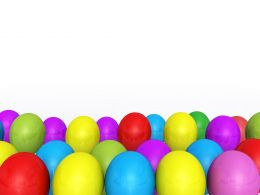 0914 Multicolor Balloons On White Background Stock Photo
