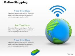 0914 Online Shopping Concept With Globe Wi-Fi Signal Mouse