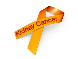 0914 Orange Ribbon For Kidney Cancer Awareness Stock Photo
