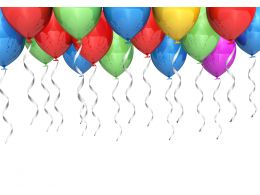 0914 Party Balloons Background Party Image Graphic Stock Photo