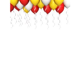 0914 Party Balloons Isolated On White Background Image Graphic Stock Photo