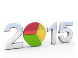 0914 Pie Chart With Year 2015 For Business Planning Stock Photo
