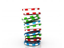 0914 Poker Gambling Chips Falling In Pile Symbol Graphic Stock Photo