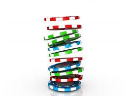 0914 Poker Gambling Chips Falling In Pile Symbol Graphic Stock Photo