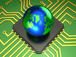 0914 Processor Circuit Of Global Technology Stock Photo