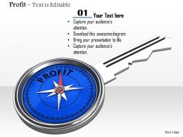 0914 Profit Key With Compass Meter Image Graphics For Powerpoint