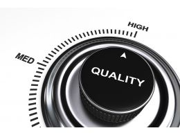 0914 Quality Meter At High Level For Quality Management Stock Photo