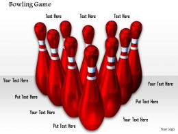0914 Red Bowling Pins Bowling Game Ppt Slide Image Graphics For Powerpoint