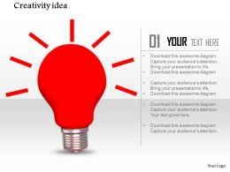 0914 Red Glowing Bulb Creativity Idea Image Graphics For Powerpoint