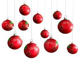 0914_red_hanging_christmas_balls_on_white_background_stock_photo_Slide01