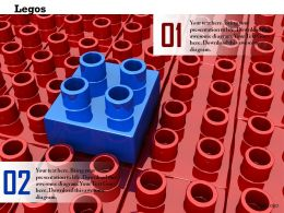 0914 Red Lagos Individual Blue Lego Leadership Ppt Slide Image Graphics For Powerpoint
