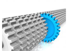0914 Render Of Gears Different Concept Business Image Graphic Stock Photo
