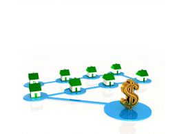 0914 Sale Houses Real Estate Dollar Network Business Image Stock Photo