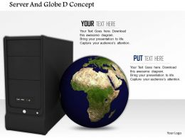 0914 Server With Globe Global Networking Image Graphics For Powerpoint