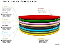 0914 Set Of Colorful Plates With Text Image Graphics For Powerpoint