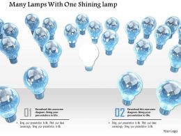 0914 Shining Bulb Among Many Bulbs Image Graphics For Powerpoint