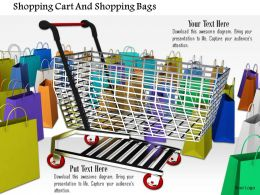 0914 Shopping Cart With Shopping Bags Image Graphics For Powerpoint