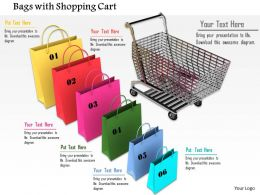 0914 Shopping Concept Bags Cart Ppt Slide Image Graphics For Powerpoint