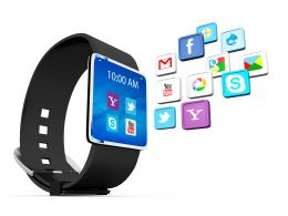 0914 Smart Watch For Business Communications Internet Concept Stock Photo