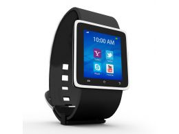 0914 Smart Watch With Latest Apps For Business Communications Stock Photo