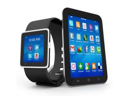 0914 Smart Watch With Touchscreen Smart Phone For Advanced Technology Stock Photo