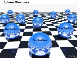0914 Sphere Glossy Balls Business Concept Ppt Slide Image Graphics For Powerpoint