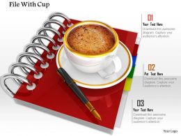 0914 Spiral Red Coffee Cups Pen Image Graphics For Powerpoint