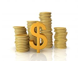 0914_stacks_of_gold_coins_dollar_symbol_on_white_background_image_stock_photo_Slide01