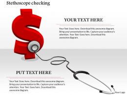0914 Stethoscope On Dollar Symbol Image Graphics For Powerpoint