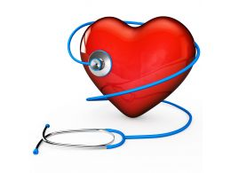 0914 Stethoscope On Red Heart Symbol For Checking Heartbeat Stock Photo