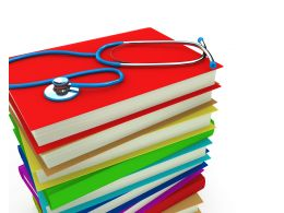 0914 Stethoscope On Stack Of Books For Medical Study Stock Photo