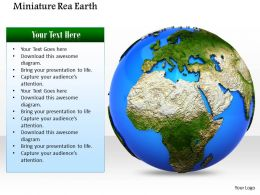 0914 Stock Photo Miniature Real Earth Geography Ppt Slide Image Graphics For Powerpoint