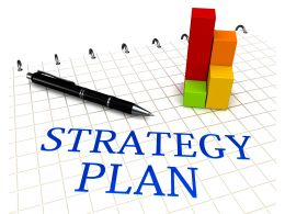 0914 Strategy Plan Text With Tools Stock Photo