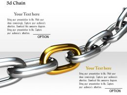0914 Strong Link Chain Business Image Ppt Slide Image Graphics For Powerpoint