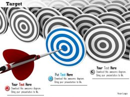 0914 Target Dart Hit Dartboards Goal Ppt Slide Image Graphics For Powerpoint