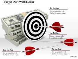 0914_target_dart_lying_over_dollar_bundle_ppt_slide_image_graphics_for_powerpoint_Slide01