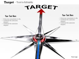 0914 Target Red Arrow Compass Image Graphics For Powerpoint