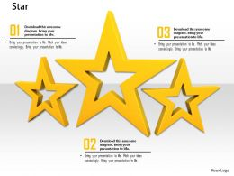 0914 Three Stars With Different Height Image Graphics For Powerpoint
