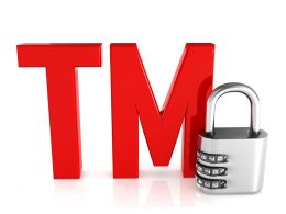 0914 Tm Text With Combination Padlock Stock Photo