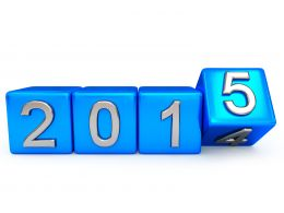0914 Turning Blocks Of Year 2014 Into 2015 Stock Photo