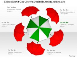 0914 Umbrellas Illustration With One Big Green White Umbrella Slide