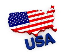 0914 Usa Text With American Flag In Map Style Stock Photo