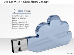 0914 Usb Plug With Cloud Shape Image Graphics For Powerpoint