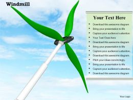 0914 Windmill Sky Background Ppt Slide Image Graphics For Powerpoint