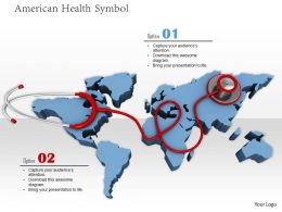0914 World Map With Stethoscope On America Image Graphics For Powerpoint