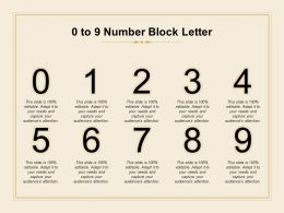 0 To 9 Number Block Letter