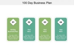 100 Day Business Plan Ppt Powerpoint Presentation Professional Diagrams Cpb