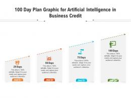 100 Day Plan Graphic For Artificial Intelligence In Business Credit Infographic Template