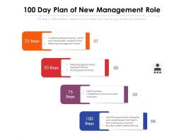 100 Day Plan Of New Management Role