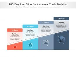100 Day Plan Slide For Automate Credit Decisions Infographic Template